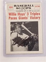 SIGNED 1961 Nu-Card Scoops #404 Willie Mays