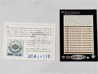 1995 Upper Deck REGGIE JACKSON Signed card COA
