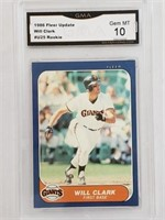 1986 Fleer Update #U25 Will Clark RC Mint 10