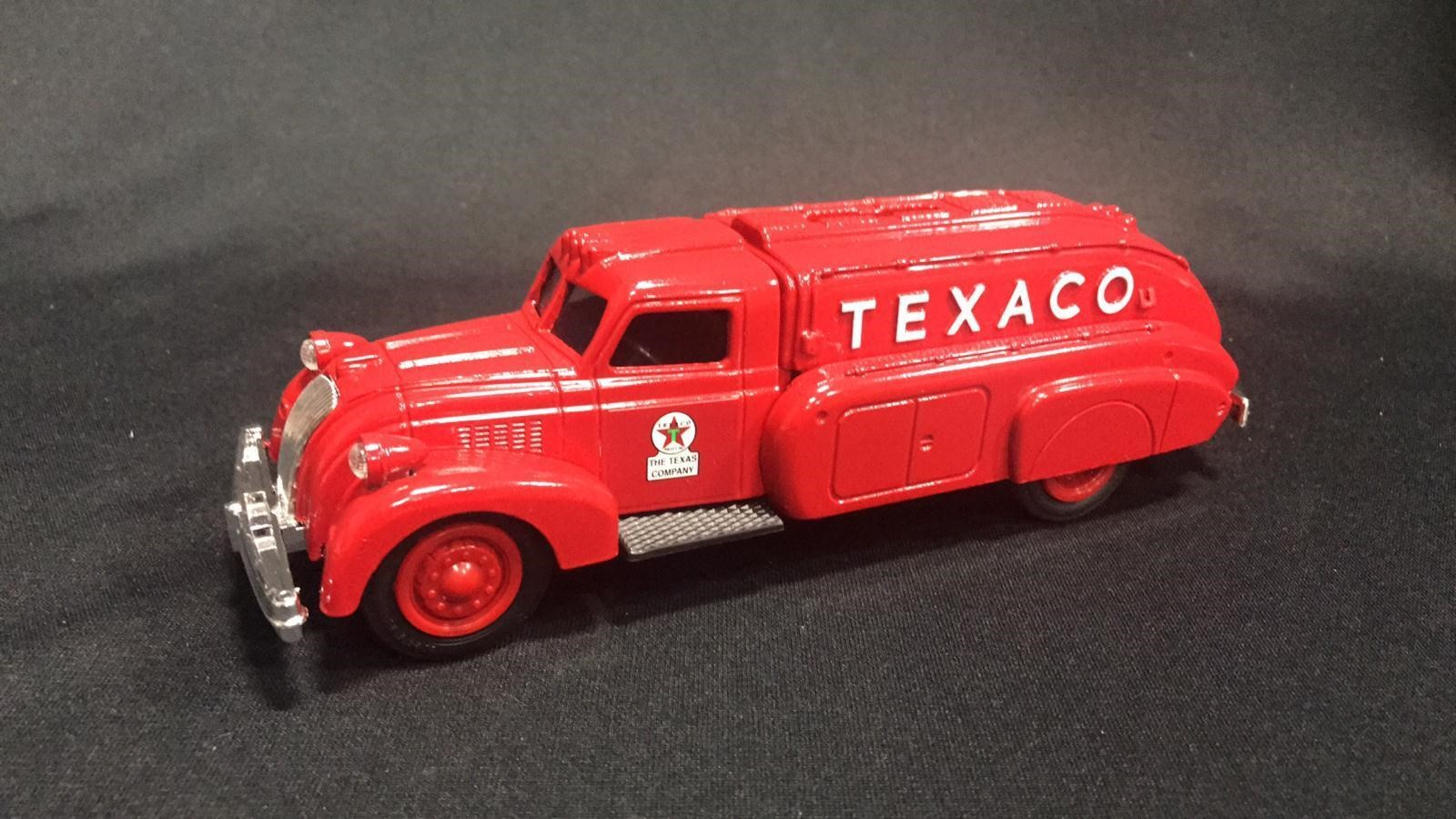 Texaco 1939 Dodge Airflow locking Coin Bank | Musser Bros  Inc