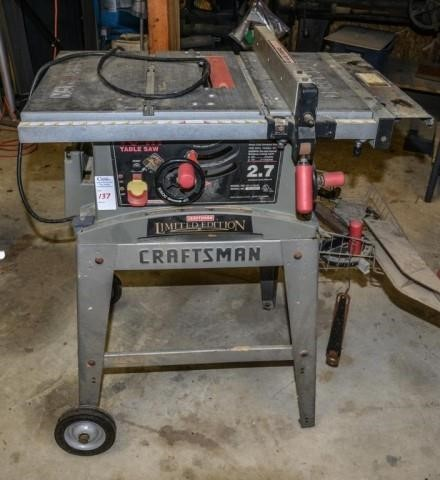 Craftsman Table Saw | United Country Rogers Auctioneers, Inc