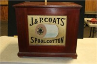 J&P COATS SPOOL COTTON 6 DRAWER SPOOL CABINET