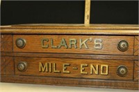 "CLARK'S ''MILE END"" 2 DRAWER SPOOL CABINET"