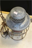 2 UNMARKED LANTERNS (CLEAR & RED GLOBES)