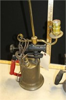 2 BRASS SOLDERING TORCHES (ONE IS A LAMP)