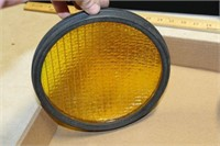RED STOP LIGHT,  SECOND  BRACKET W/ YELLOW LENS