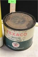 AGWAY OIL CAN, TEXACO MARFAK GREASE CAN