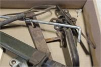 BOX OF HARDWARE, MILITARY KNIFE