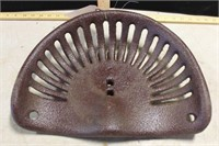 """BROWN IMPLEMENT SEAT (GOOD), 16"""""""
