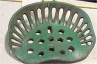 GREEN IMPLEMENT SEAT, 13 1/2""