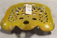 """YELLOW CAST IRON IMPLEMENT SEAT, 16"""""""