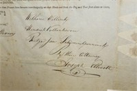 1813 LAND DEED SIGNED BY JOSEPH ELLICOTT