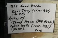 1837 LAND DEED, BYRON, NY