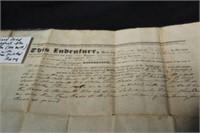 "THREE EARLY LAND DEEDS (1833, 1838, 1839-""ELBA"")"