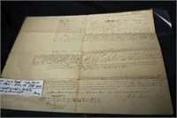 2 EARLY 1800'S LAND DEEDS & 2 EARLY RECEIPTS