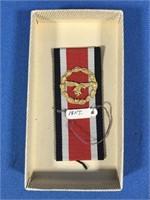 WWII GERMAN NAZI LUFTWAFFE PIN WITH RIBBON BACK,