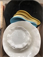 Box of bowls and plates