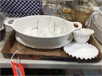 Bowl, platter & assorted