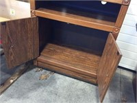 Microwave cart on wheels with 2 doors 29x17x35