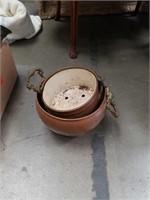 Lot of 2 copper  pots
