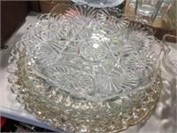 Glass platters & assorted