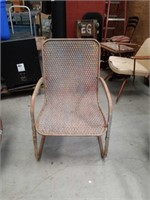 Spring loaded armchair
