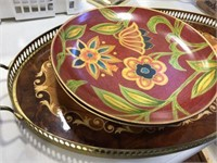 Platter, bowl & assorted