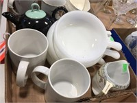 Cups, bowls & assorted
