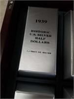 1939 - 1964 SILVER HALF DOLLARS IN CASE