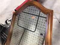 Framed mirror 14x35 & artificial arrangements
