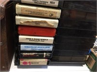 8 track tapes & storage cases