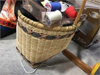 Spools of thread, sewing related items & assorted