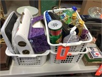 Baskets, scale & assorted soaps