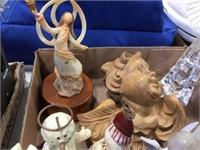 Angels, snowman & assorted decorators