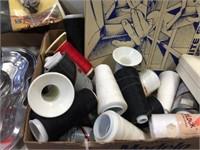 Spools of thread & assorted