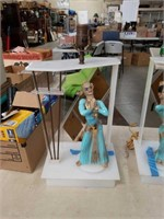 Pair of 50s acrylic figurines table lamps