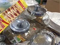 Glass canisters & assorted kitchen related
