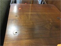 2 drawer lamp table- has holes in top18x21x23