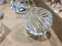 Glass candle holders & glass vase
