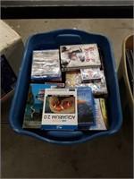 Tub of DVD's movies