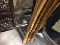 Metal ironing boards & wood crutches
