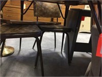 Dinette table with 3 chairs & single leaf
