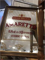 Framed Seagrams & Amaretto mirrors