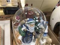 Santa decorator with globe & assorted