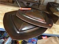 Pair of copper decorators 15x15