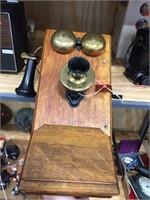 Oak wall phone