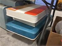 Padded seat cushions