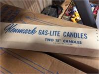 Gas lite candles