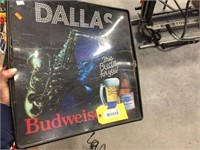 Budweiser sign, does NOT light
