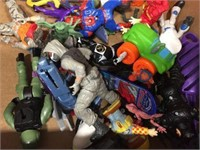 Assorted toy figures